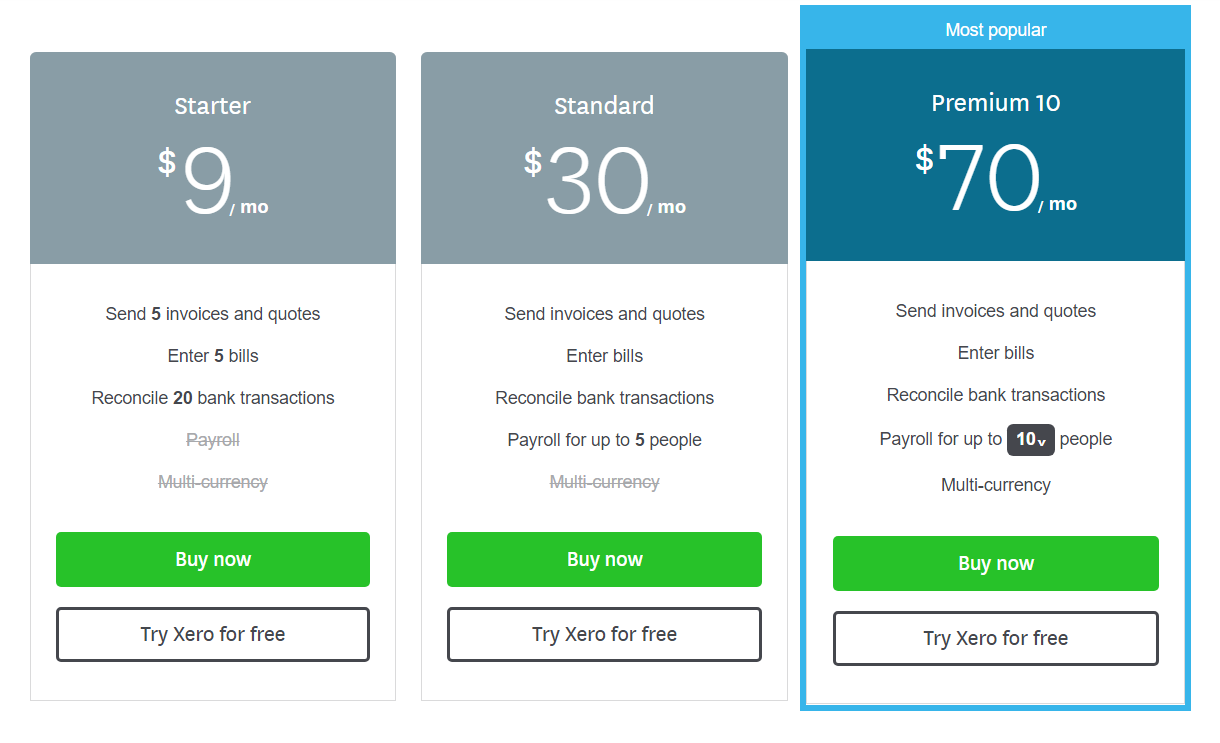 Xero Pricing- 1