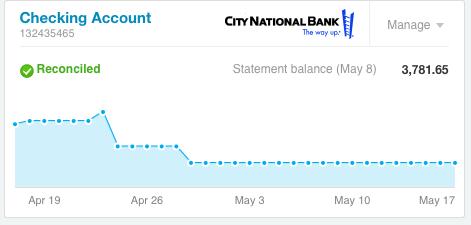 Xero Bank Account
