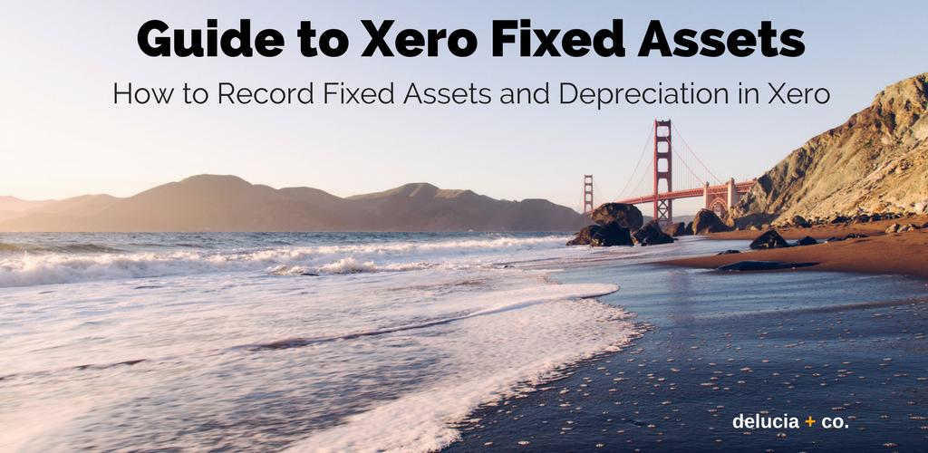 Xero Fixed Assets