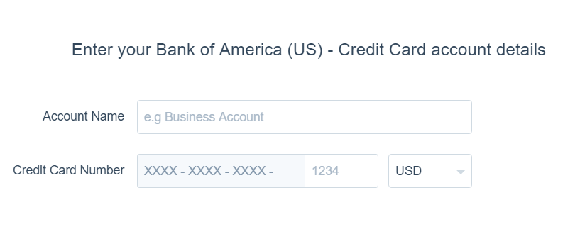 Add Bank account to Xero