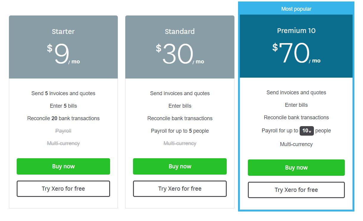 Xero Pricing- 1